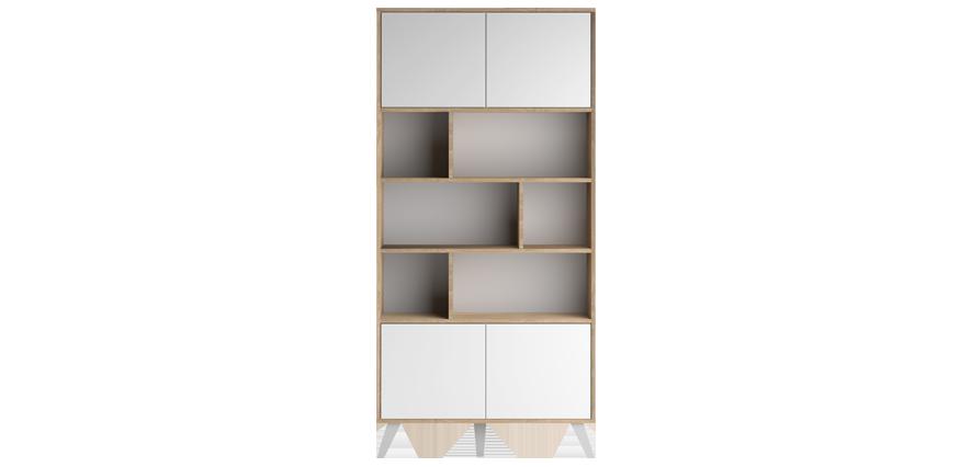 Bibliothèque bois blanc