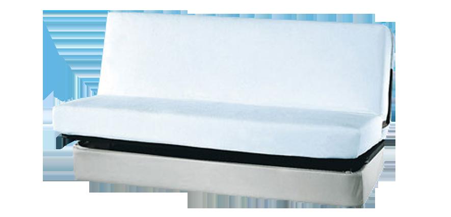 Drap housse blanc clic-clac