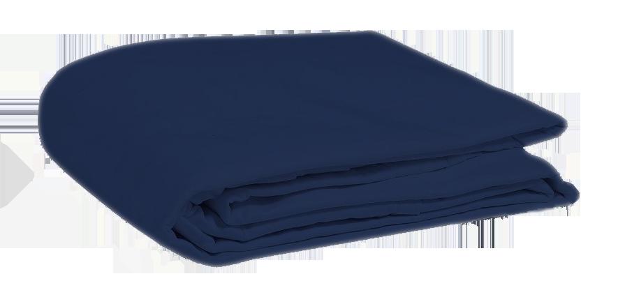 Drap plat bleu marine