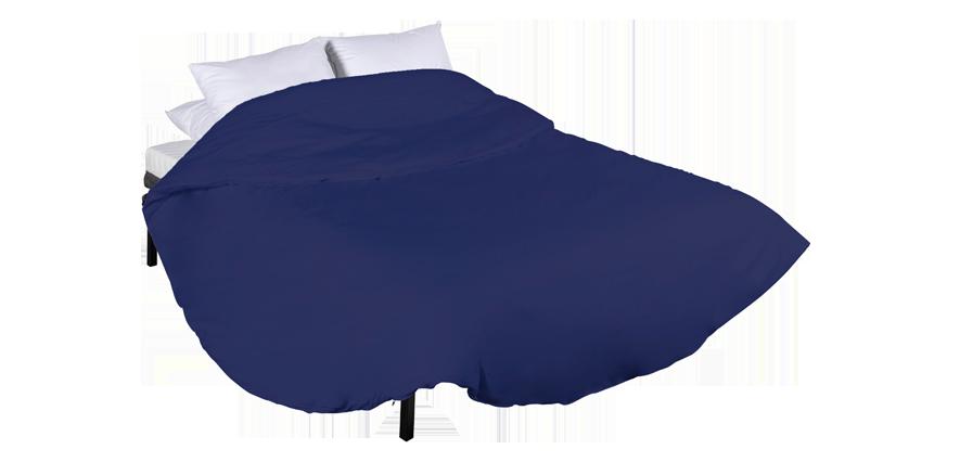Housse ronde bleu marine