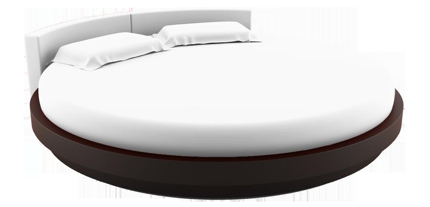 Linge de lit rond blanc