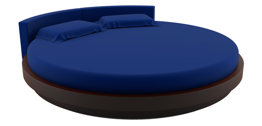 Linge de lit rond bleu marine