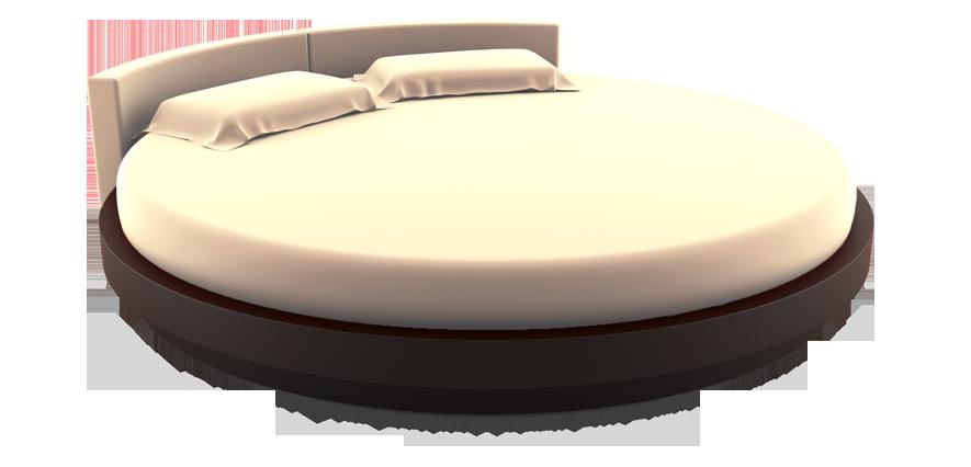 Linge de lit rond écru