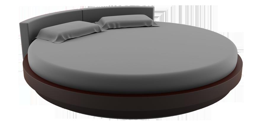 Linge de lit rond gris